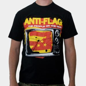 metál póló férfi Anti-Flag - Black - KINGS ROAD - 00004